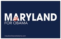 Framed Barack Obama - (Maryland for Obama) Campaign Poster