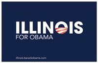 Framed Barack Obama - (Illinois for Obama) Campaign Poster