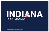 Framed Barack Obama - (Indiana for Obama) Campaign Poster