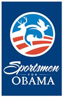Framed Barack Obama - (Sportsmen for Obama) Campaign Poster