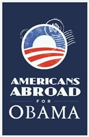 Framed Barack Obama - (Americans Abroad for Obama) Campaign Poster
