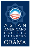 Framed Barack Obama - (Asian Americans for Obama) Campaign Poster