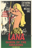 Framed Lana Queen of the Amazons, c.1967