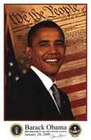 Framed Barack Obama - Inauguration 2009 With Presidential Seals