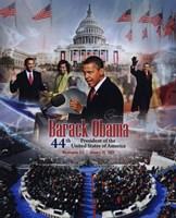 Framed 2009 Barack Obama Inaugural Portrait Plus