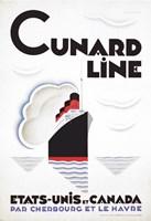 Framed Cunard Line - Canada