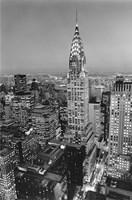 New York, New York, Chrysler Building at Night Framed Print