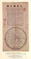 Framed Map of the Main Stars in the Visible Realm, (The Vatican Collection)