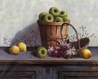 Framed Green Apples and Lemons