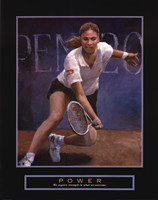 Framed Power - Tennis Player