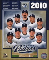 Framed 2010 San Diego Padres Team Composite