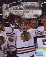 Framed Patrick Kane with the 2009-10 Stanley Cup (#27)