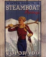 Framed Ski Steamboat Springs