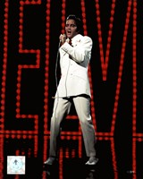 Framed Elvis Presley Wearing White Suit (#5)