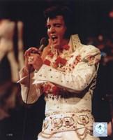 Framed Elvis Presley Wearing a Rhinestone Jacket (#6)