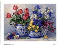 Framed Spring Garden In Blue I