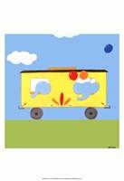 Framed Circus Train III