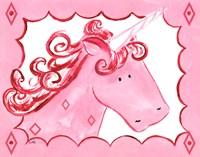 Framed Royal Unicorn - Rose