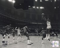 Framed Michael Jordan University of North Carolina Game winning basket in the 1982 NCAA Finals against Georgetown Horizontal Action