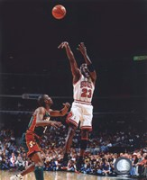 Framed Michael Jordan Game 6 of the 1996 NBA Finals Action