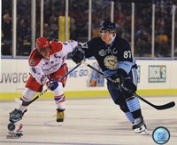 Framed Alex Ovechkin & Sidney Crosby 2011 NHL Winter Classic Action