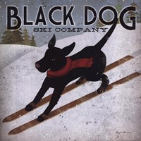 Framed Black Dog Ski
