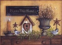 Framed Bless This Home (shelf)