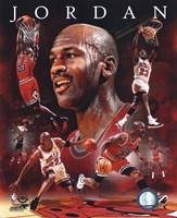 Framed Michael Jordan 2011 Portrait Plus