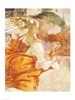 Framed Annunciation, detail of the Archangel Gabriel, from San Martino della Scala, 1481