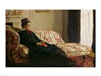 Framed Meditation, or Madame Monet on the Sofa, c.1871