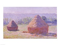 Framed Haystacks, or The End of the Summer, at Giverny, 1891
