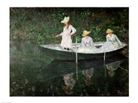 Framed Boat at Giverny, c.1887
