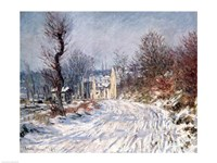 Framed Road to Giverny, Winter, 1885