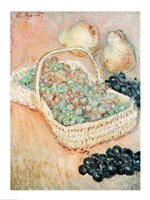Framed Basket of Grapes, 1884
