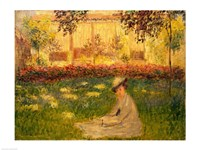 Framed Woman in a Garden, 1876