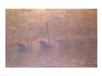 Framed Thames at London, Waterloo Bridge, 1903