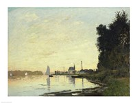 Framed Argenteuil, Late Afternoon, 1872