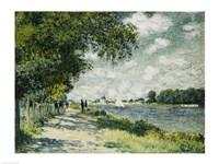 Framed Seine at Argenteuil, 1875