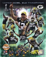 Framed Green Bay Packers Super Bowl XLV Champions PF Gold Composite