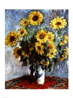 Framed Still life with Sunflowers, 1880
