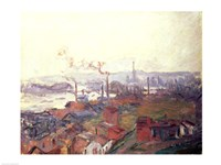 Framed General View of Rouen from St. Catherine's Bank, c.1892