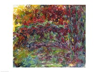 Framed Japanese Bridge at Giverny - abstract