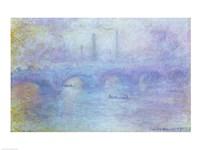 Framed Waterloo Bridge, Effect of Fog, 1903