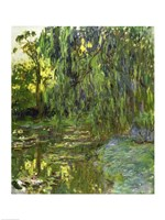 Framed Weeping Willows, The Waterlily Pond at Giverny, c.1918