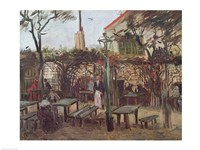 Framed Pleasure Gardens at Montmartre, 1886