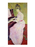 Framed Marguerite Gachet at the Piano, 1890