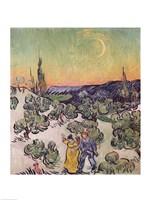 Framed Moonlit Landscape, 1889