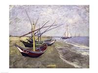 Framed Fishing Boats on the Beach at Saintes-Maries-de-la-Mer