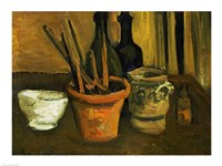 Framed Still Life of Paintbrushes in a Flowerpot, 1884