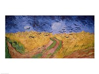 Framed Wheatfield with Crows, 1890
